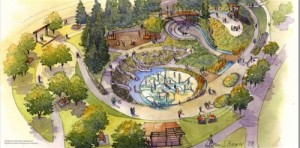 An artist's rendition of Beacon Mountain Playground at Jefferson Park, from last year. Click this image to see a larger version of this design.