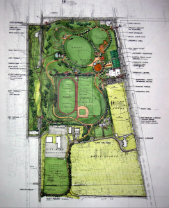 Jefferson Park schematic design. Click for larger version.