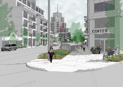 A rendering of the view down Beacon Avenue with 125-foot zoning. From the DPD website.