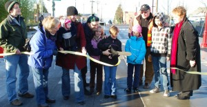 The ribbon is cut! Photo courtesy Willie Weir.