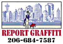 Report graffiti, phone 206-684-7587