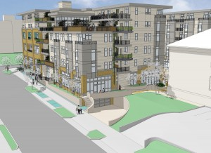A rendering of a design for the 17th Avenue South side of the project.