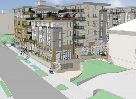 A rendering of a design for the 17th Avenue South side of the Plaza Roberto Maestas project.