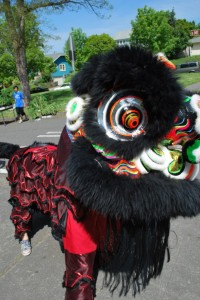 Lion dancer photo courtesy of Elizabeth Lowry.