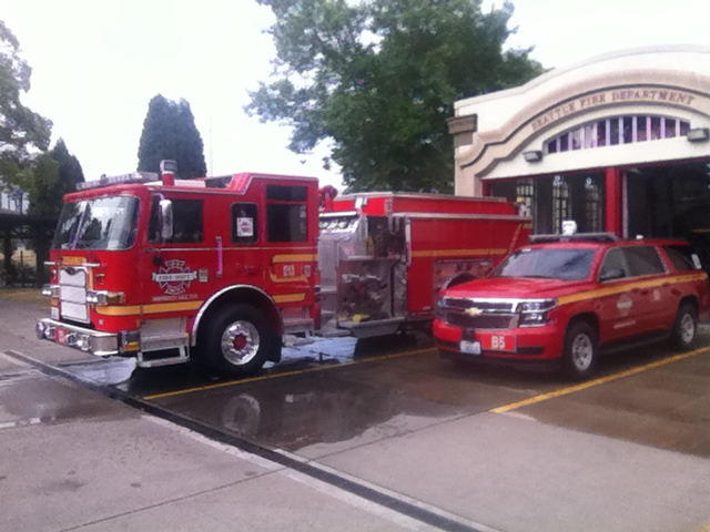 New vehicles at Fire Station 13. Photo courtesy of Lt. Kyle White.